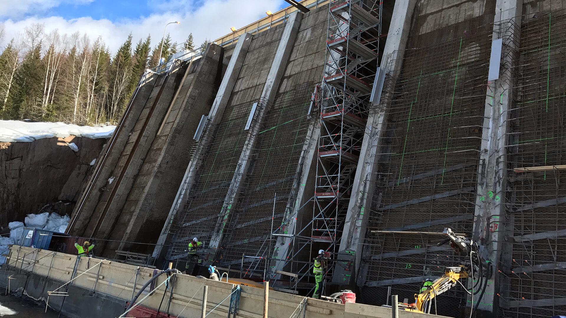 Renoveringen av pelarnosar i Höljes
